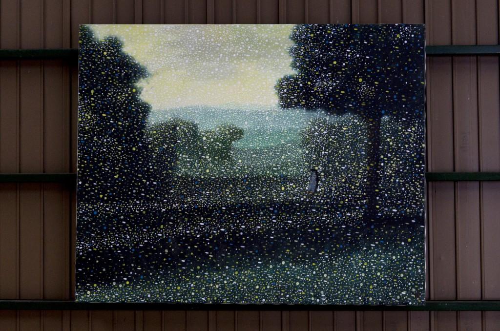 ふらここ Acrylic colors on Canvas 1300 mm high x 1630 mm wide  2015 ¥1170,000 -(額無し)